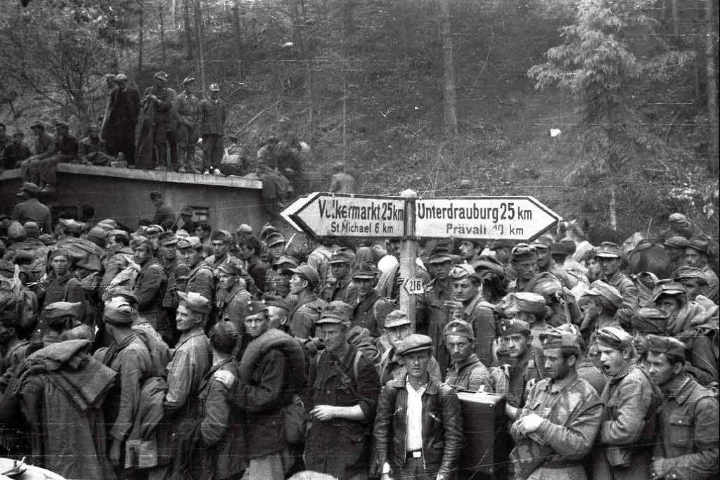 Zarobljene ustaške i domobranske postrojbe na Bleiburgu